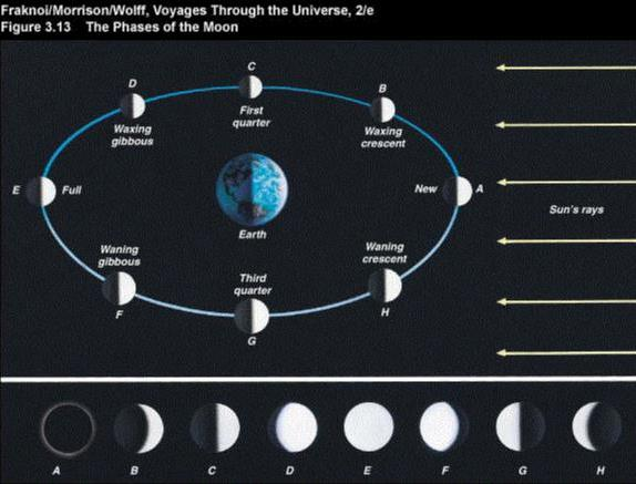 Astronomy 100 Lunar Phases And Motions