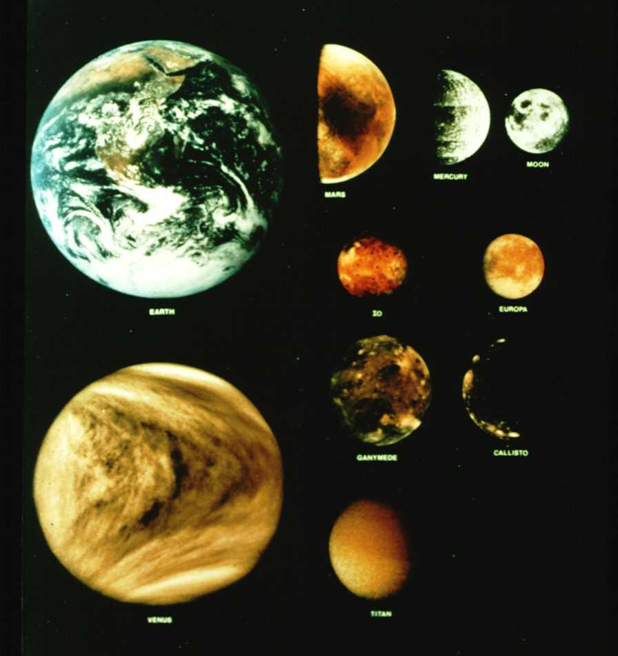 jovian planets size comparison - photo #43